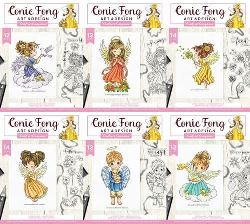Conie Fong Angel Inspiration Photopolymer Stamp & Metal Die by Crafter's Companion